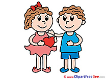 Couple Kids Clipart Love Illustrations