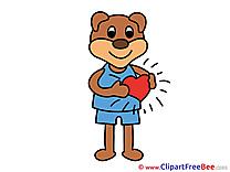 Download Bear Heart Love Illustrations