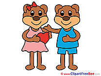 Enamored Bears Cliparts Love for free