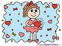 Girl Heart printable Love Images