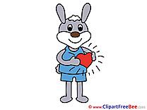 Hare Heart Pics Love free Cliparts