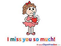 Broken Heart I miss You Illustrations for free