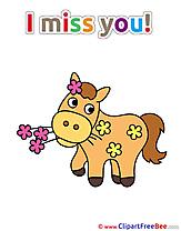 Declaration Horse download I miss You Illustrations