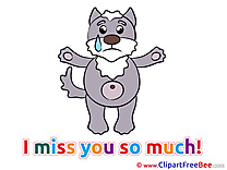Dog download Clipart I miss You Cliparts