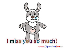 Hare Clipart I miss You free Images