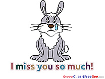 Hare I miss You Clip Art for free