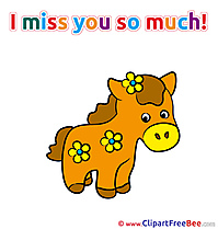 Horse free Cliparts I miss You