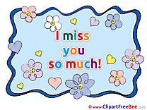 I love You printable Illustrations I miss You