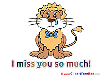 Lion Cliparts I miss You for free