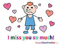 Man Hearts download I miss You Illustrations