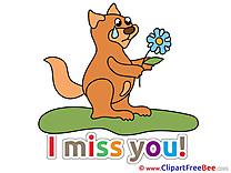 Squirrel Clip Art download I miss You