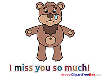 Teddy Bear printable I miss You Images