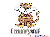 Tigre Pics I miss You free Cliparts