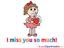 Woman Broken Heart printable I miss You Images