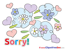 Flowers printable Sorry Images
