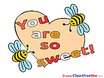 Bees Heart printable You are sweet Images
