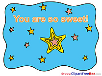 Star free Illustration You are sweet