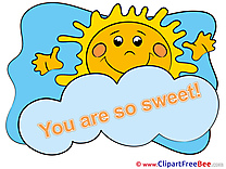 Sun You are sweet download Illustration