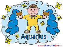 Aquarius Zodiac download Illustration