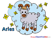 Aries Zodiac Illustrations for free