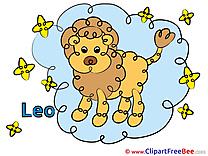 Leo Clipart Zodiac Illustrations
