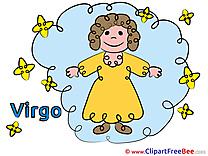 Virgo Pics Zodiac Illustration