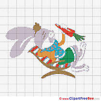 Bunny eats Carrot printable Cross Stitches download