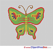 Butterfly download printable Cross Stitches