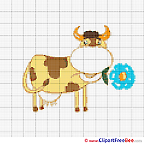 Cow free Cross Stitch download