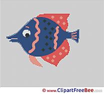Fish Design free Cross Stitches