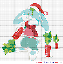 Hare Carrot Design download Cross Stitch