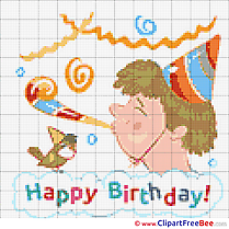 Feast Patterns Birthday Cross Stitches