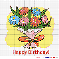 Flowers download Birthday Cross Stitches