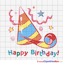 Hat Cap Patterns Birthday Cross Stitch