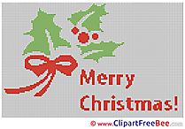 Free Cross Stitch Merry Christmas