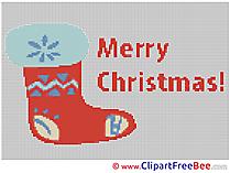 Sock Cross Stitch download Christmas