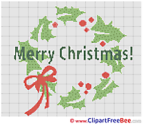 Wreath download Christmas Cross Stitches
