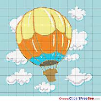 Balloon Sky Cross Stitches free
