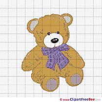 Bear Cross Stitch printable free