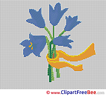 Bouquet Flowers  printable Cross Stitches for free