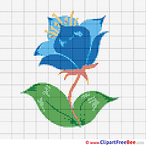 Download Flower printable Cross Stitches