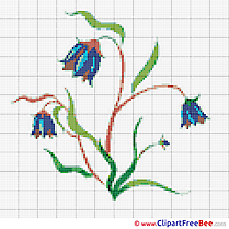 Drawing Flower Patterns printable Cross Stitch