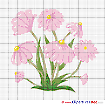 Embroidery Flowers Design free Cross Stitches