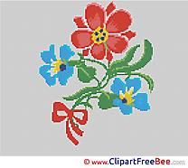 Flower Cross Stitch printable free
