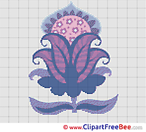 Flower Cross Stitches download free
