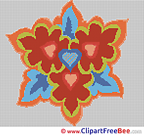 Image Flower Cross Stitches download for free