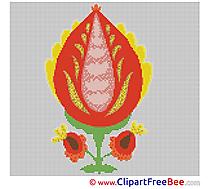 Picture Flower Design download  Cross Stitch