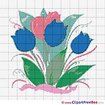 Tulips Design Cross Stitches free