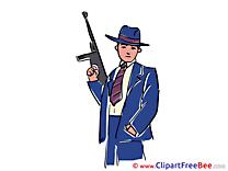 Mafia Machine Gun Clipart free Image download