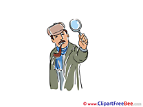 Pipe Loupe Detective Clipart free Image download